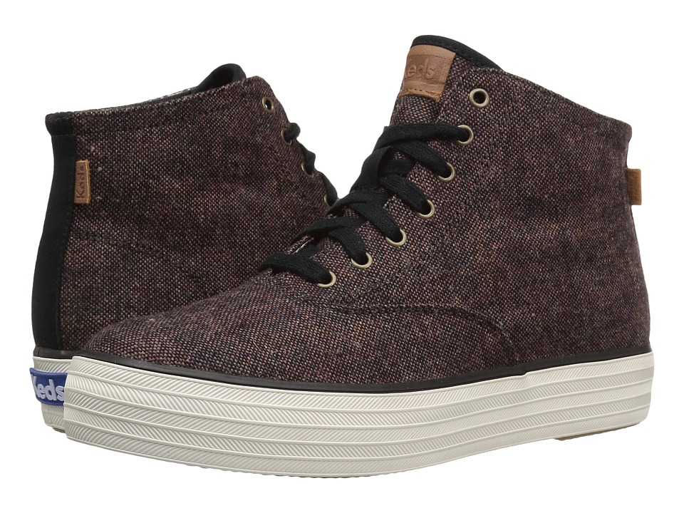Keds - Triple Hi Tweed (Burgundy) Women's Shoes