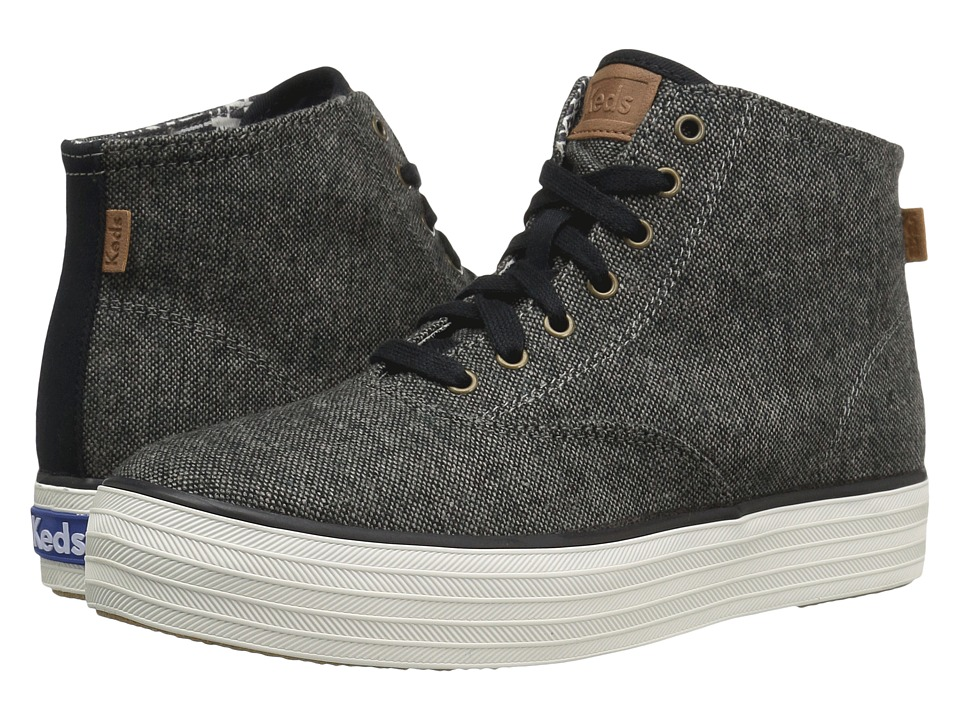 Keds - Triple Hi Tweed (Grey) Women's Shoes