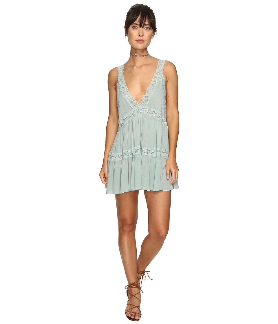 Free People - Look of Love Slip (Mint) Women's Underwear