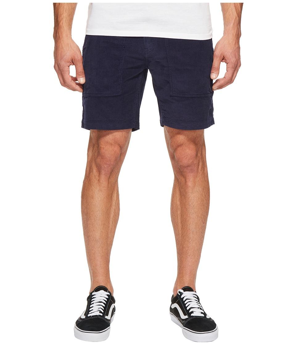HUF - Corduroy Shorts (Obsidian) Men's Shorts