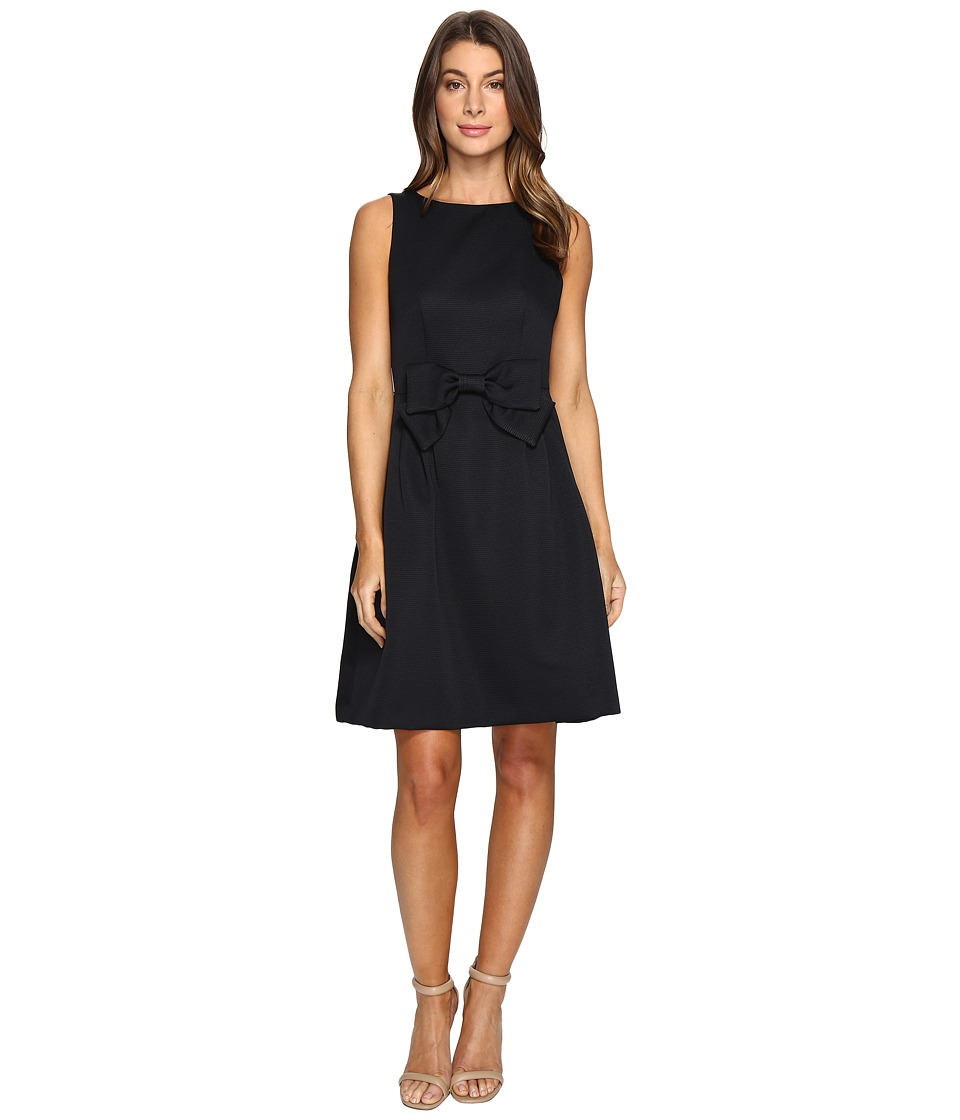 Tahari by ASL Bow Detail Fit and Flare Dress (Navy) Women