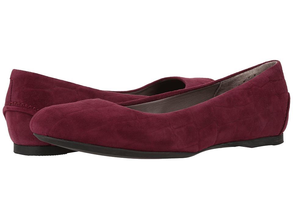 SAS - Lacey (Plum Croc Suede) Women's Shoes