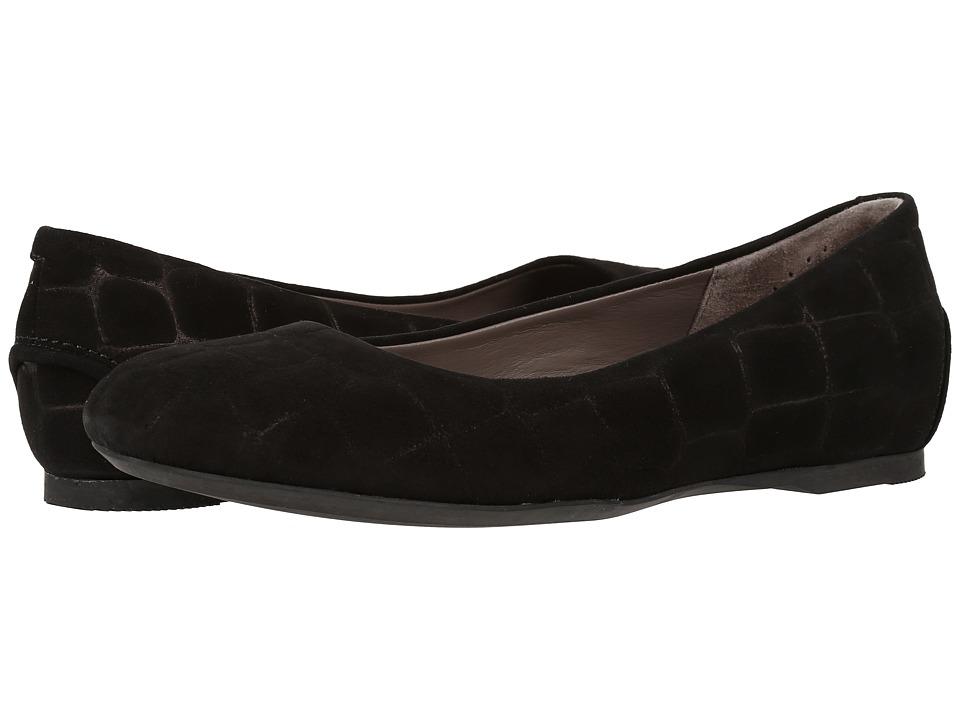 SAS - Lacey (Black Croc Suede) Women's Shoes