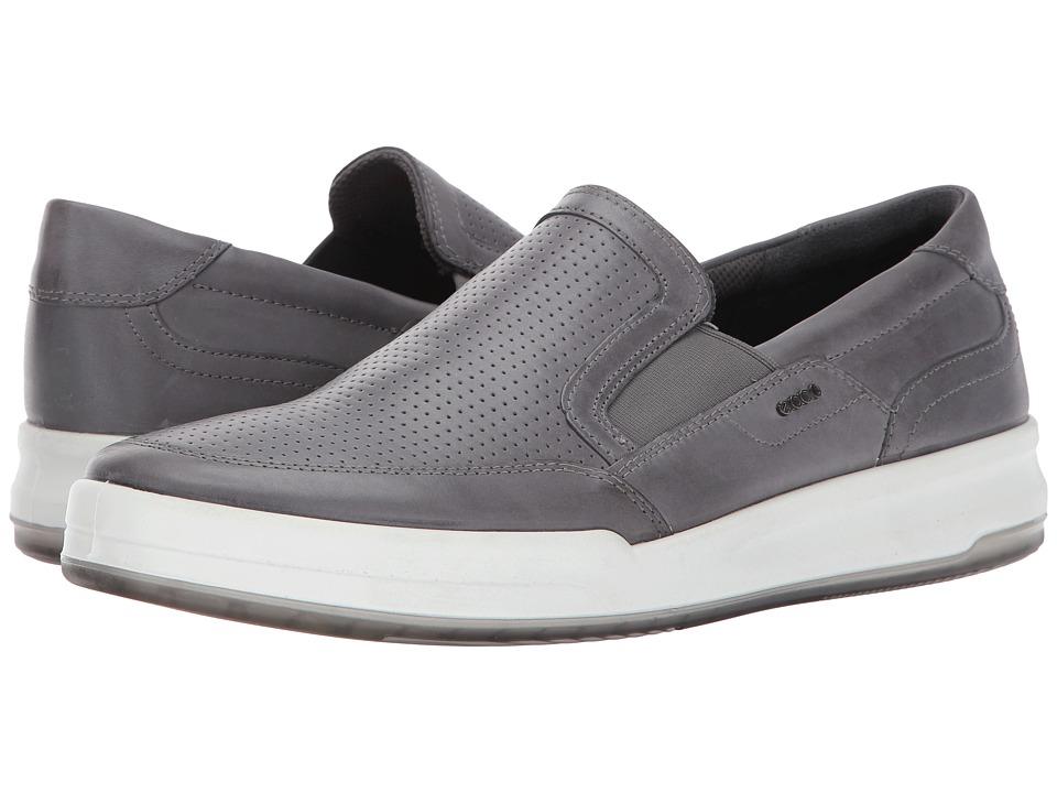 ECCO - Jack Perforated Slip-On (Titanium) Men's Slip on Shoes