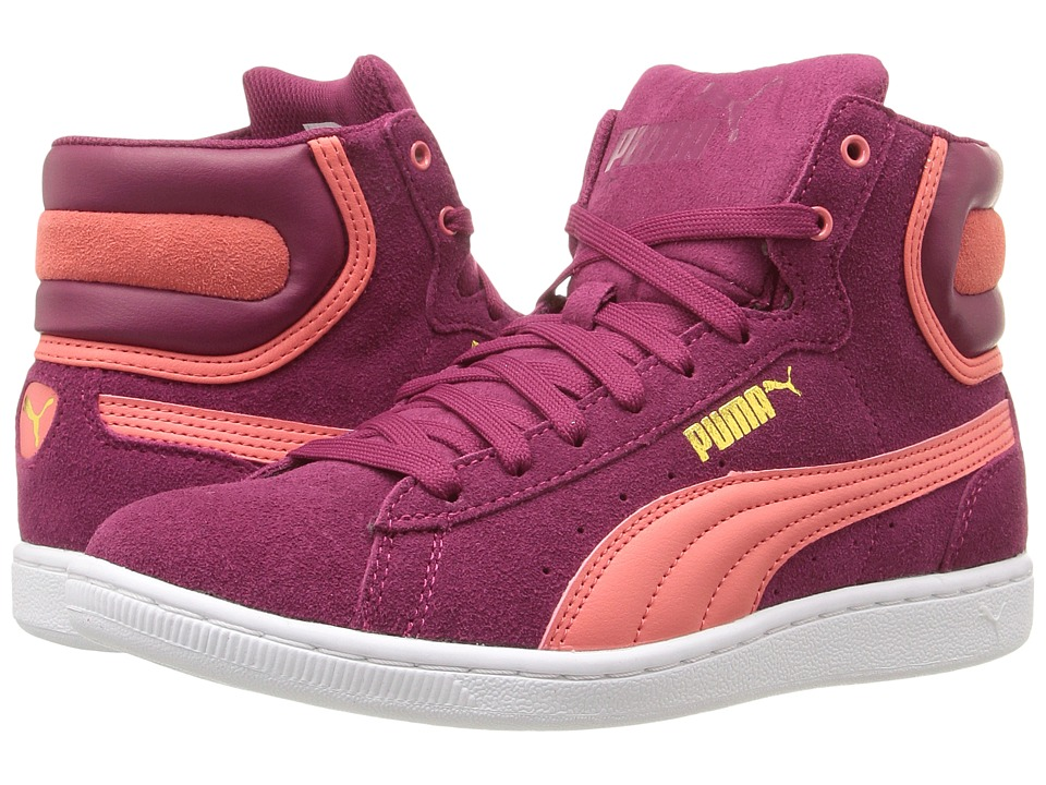 PUMA - Puma Vikky Mid (Red Plum/Porcelain Rose) Women's Shoes