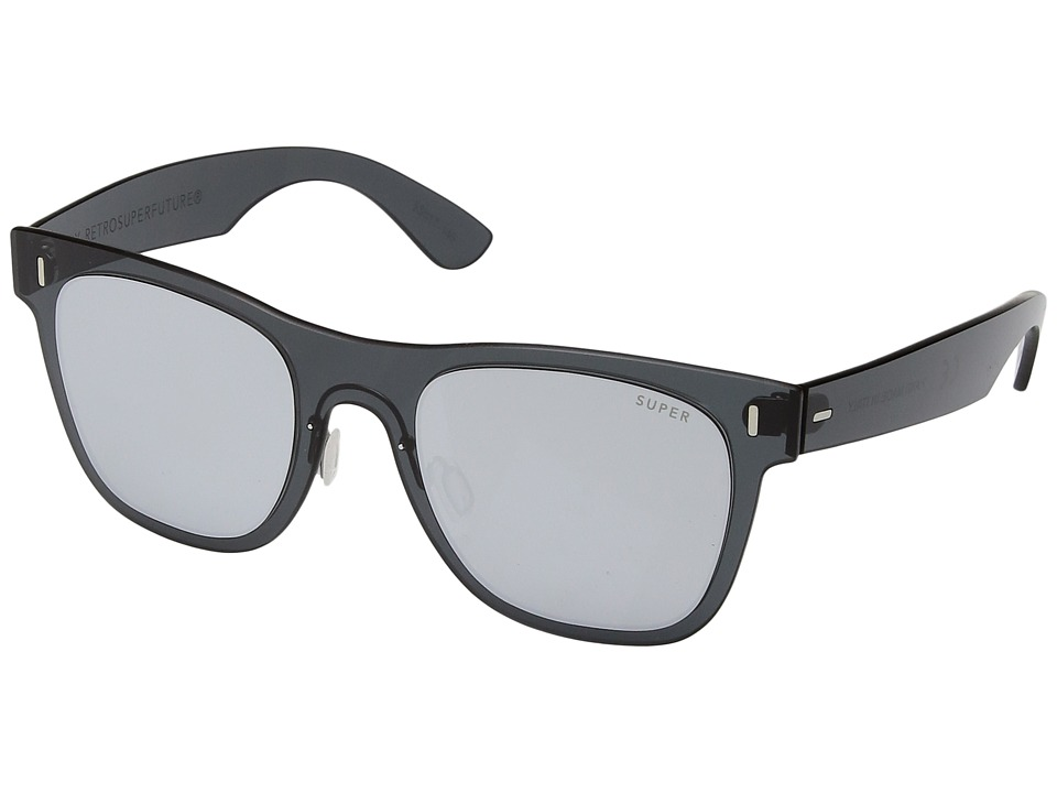 Super - Duo-Lens Classic Silver/Black (Silver/Black 1) Fashion Sunglasses