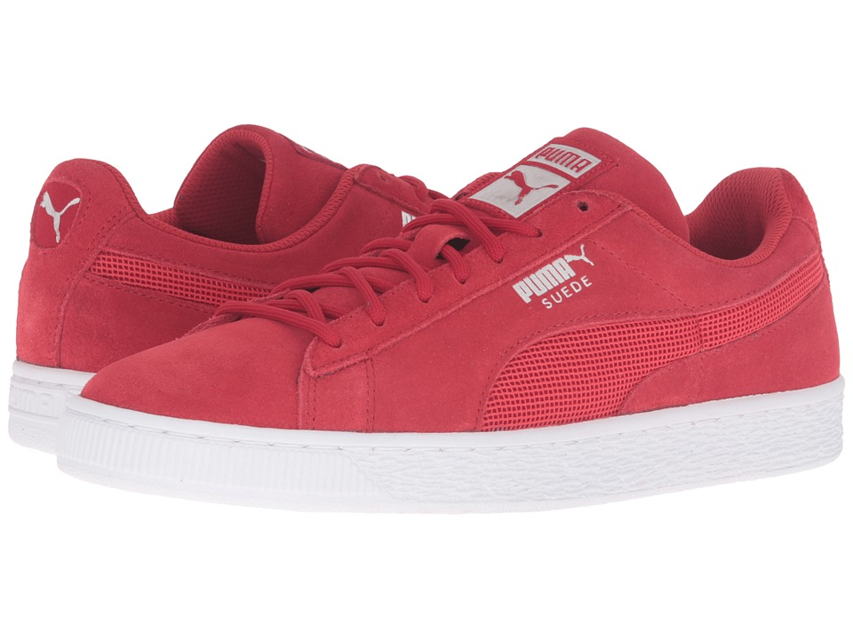 PUMA - Suede Classic Mesh FS (High Risk Red) Men's Shoes