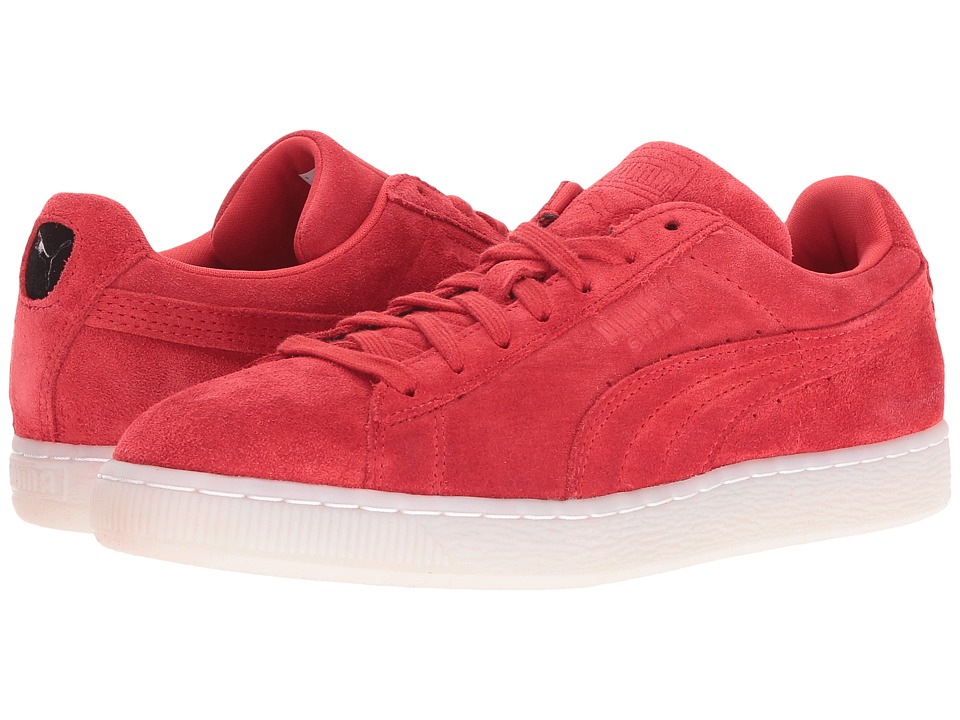 PUMA - Suede Classic Colored (High Risk Red/Black) Men's Shoes