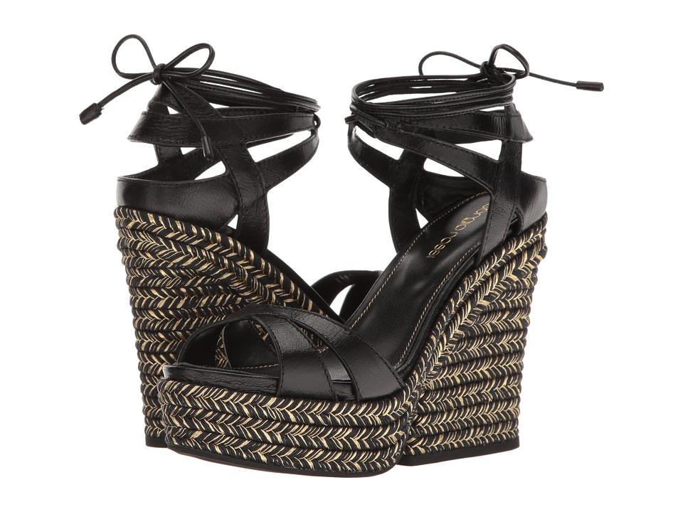 Sergio Rossi - Bilbao (Black Leather) Women's Wedge Shoes