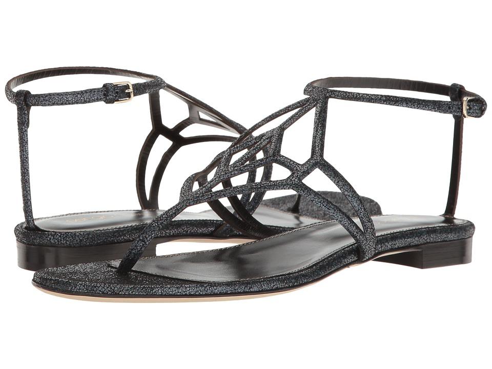Sergio Rossi - Puzzle (Grafite Pressed Glitter) Women's Sandals