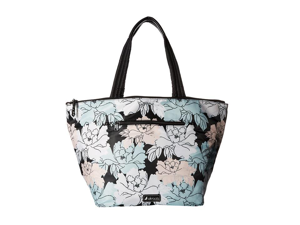 Sakroots - Kota Reversible Nylon Tote (Black Peony) Tote Handbags