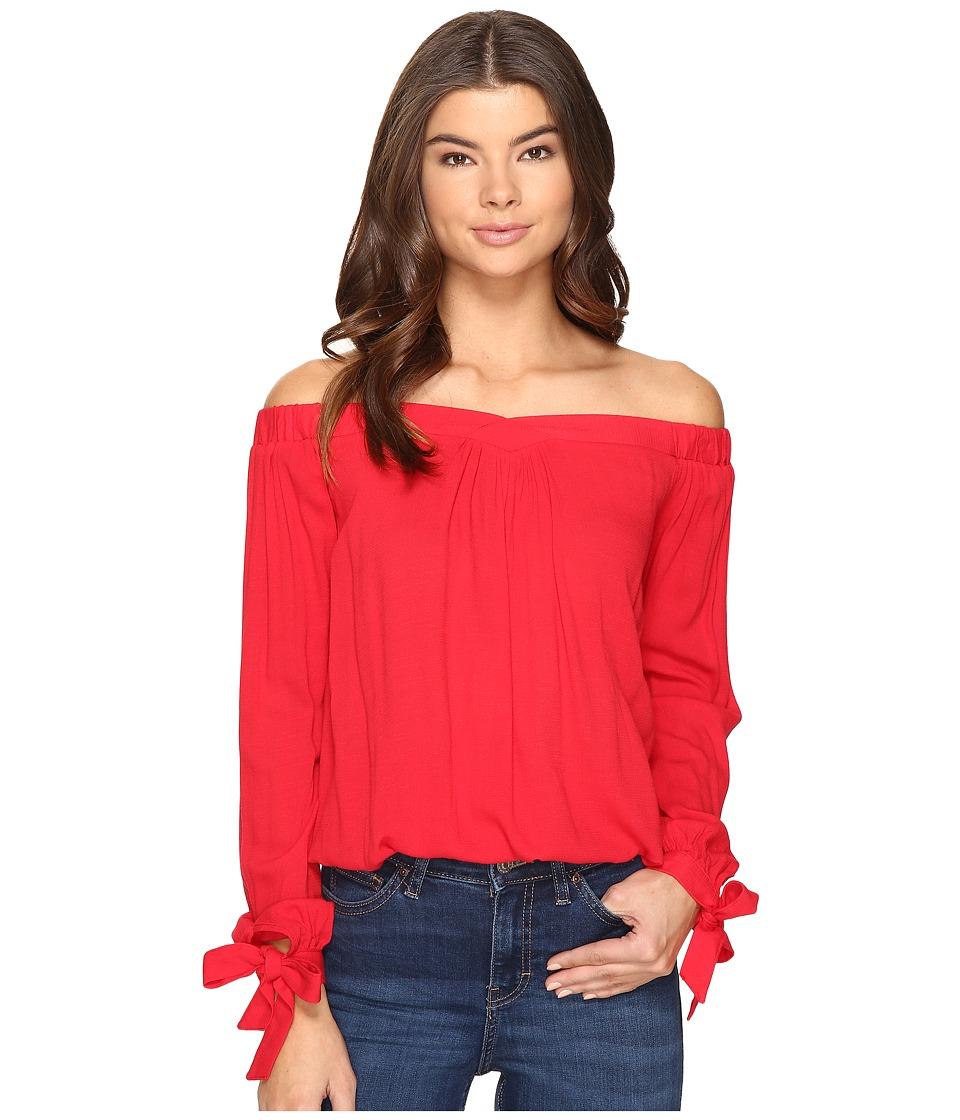 Brigitte Bailey - Dafne Long Sleeve Off the Shoulder Top (Red) Women's Clothing