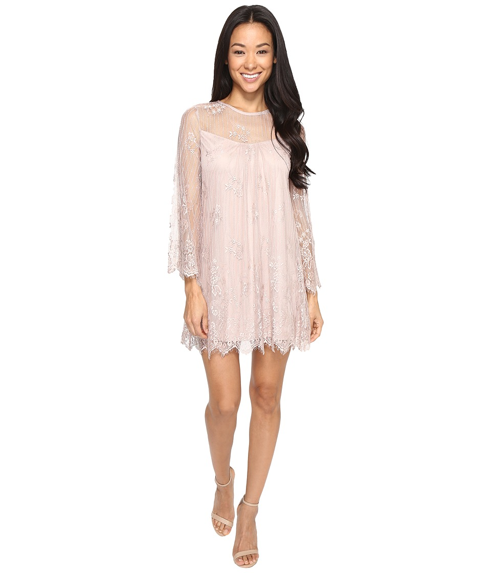 Brigitte Bailey - Gisselle Long Sleeve Lace Dress (Mauve) Women's Dress