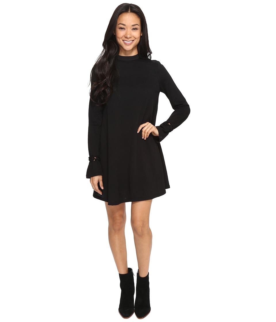 Brigitte Bailey Aimee Mock Neck Dress (Black) Women