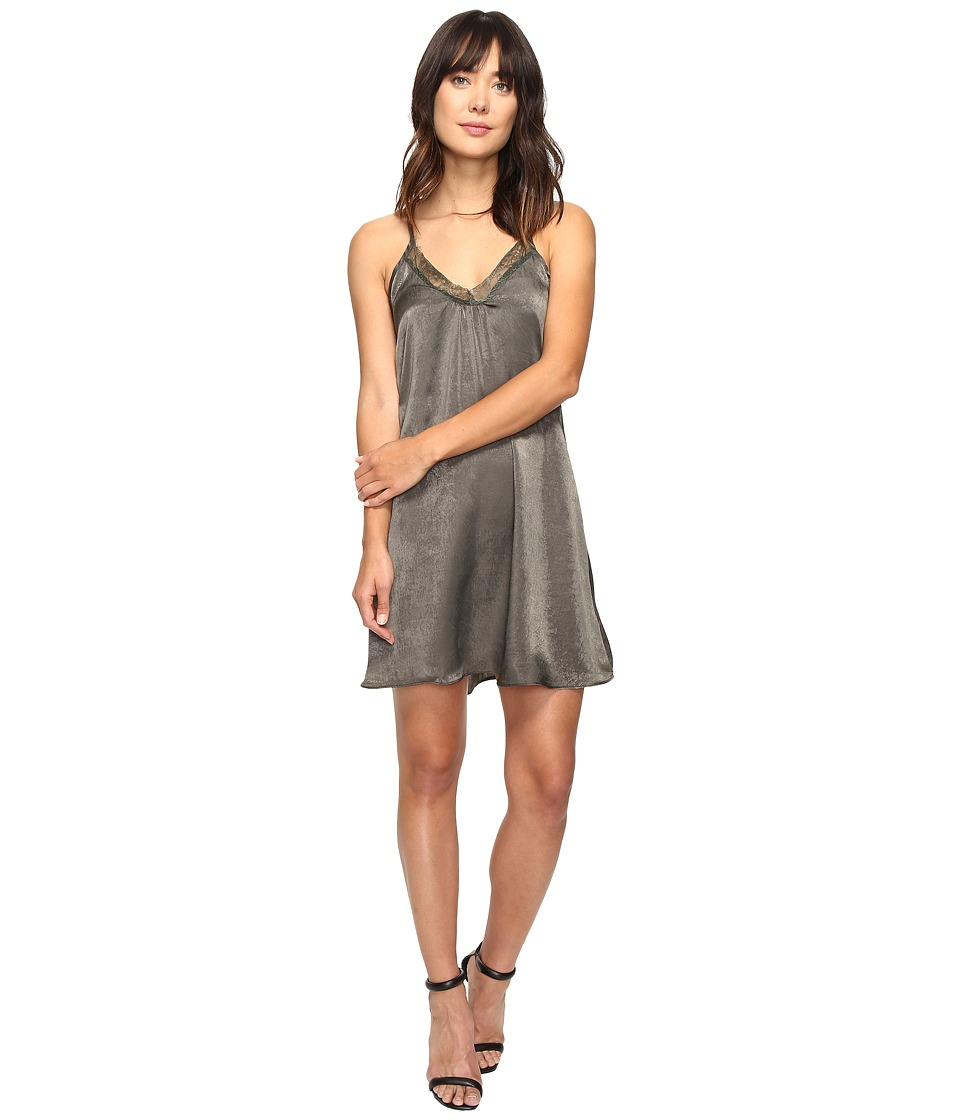 Brigitte Bailey - Marrie Spaghetti Strap Dress with Lace Detail (Olive) Women's Dress