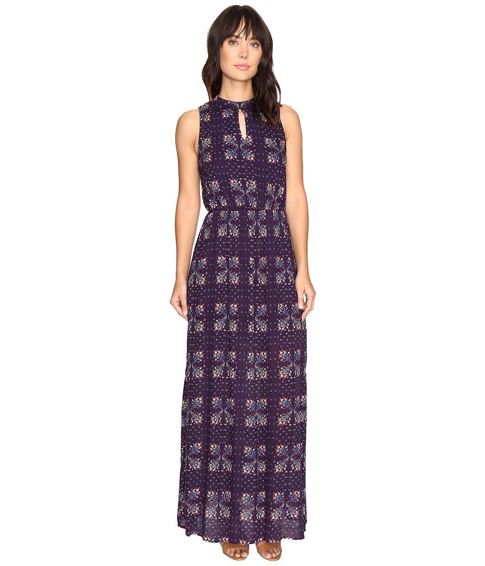 Brigitte Bailey - Kaitlin Sleeveless Maxi Dress with Front Keyhole (Navy) Women's Dress