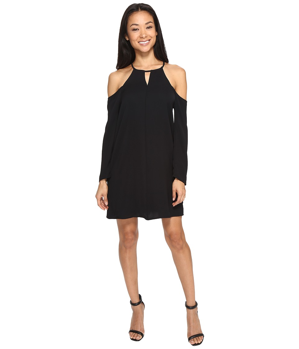 Brigitte Bailey - Bryanne Cold Shoulder Shift Dress with Keyhole (Black) Women's Dress