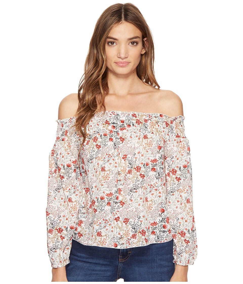 Brigitte Bailey - Karlee Off the Shoulder Floral Top (Off-White) Women's Clothing