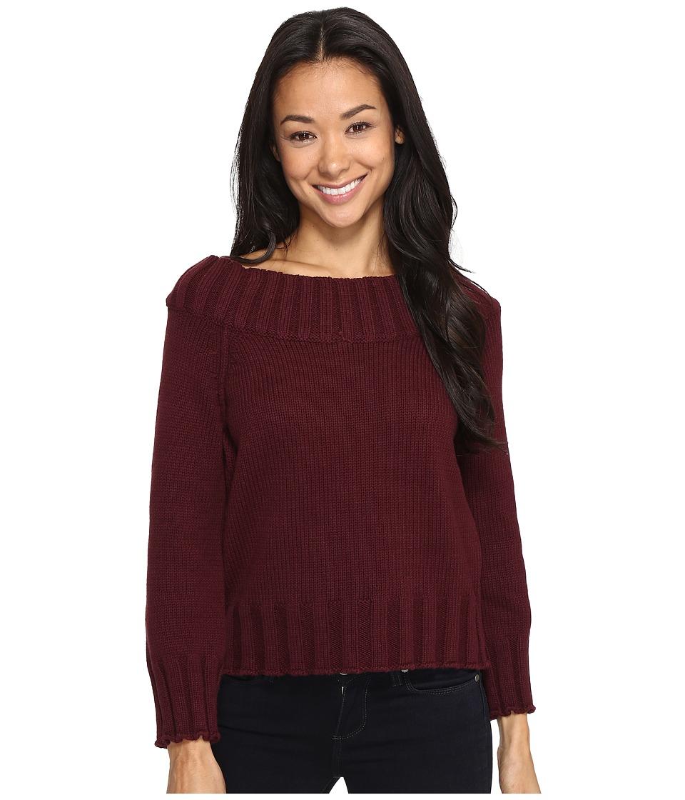 Brigitte Bailey - Bradlee Wide Neck Sweater (Burgundy) Women's Sweater