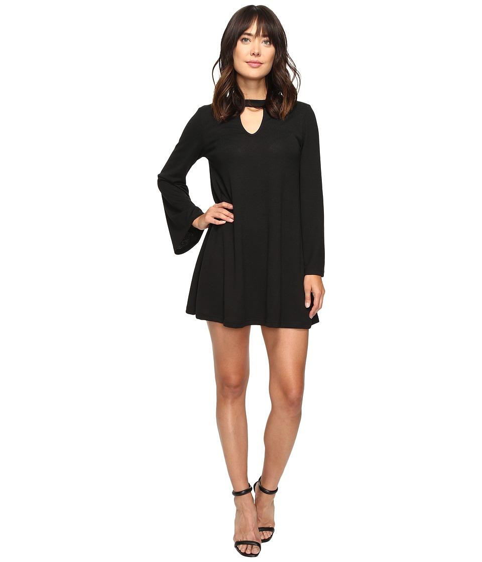 Brigitte Bailey Alia Long Sleeve Keyhole Dress (Black) Women