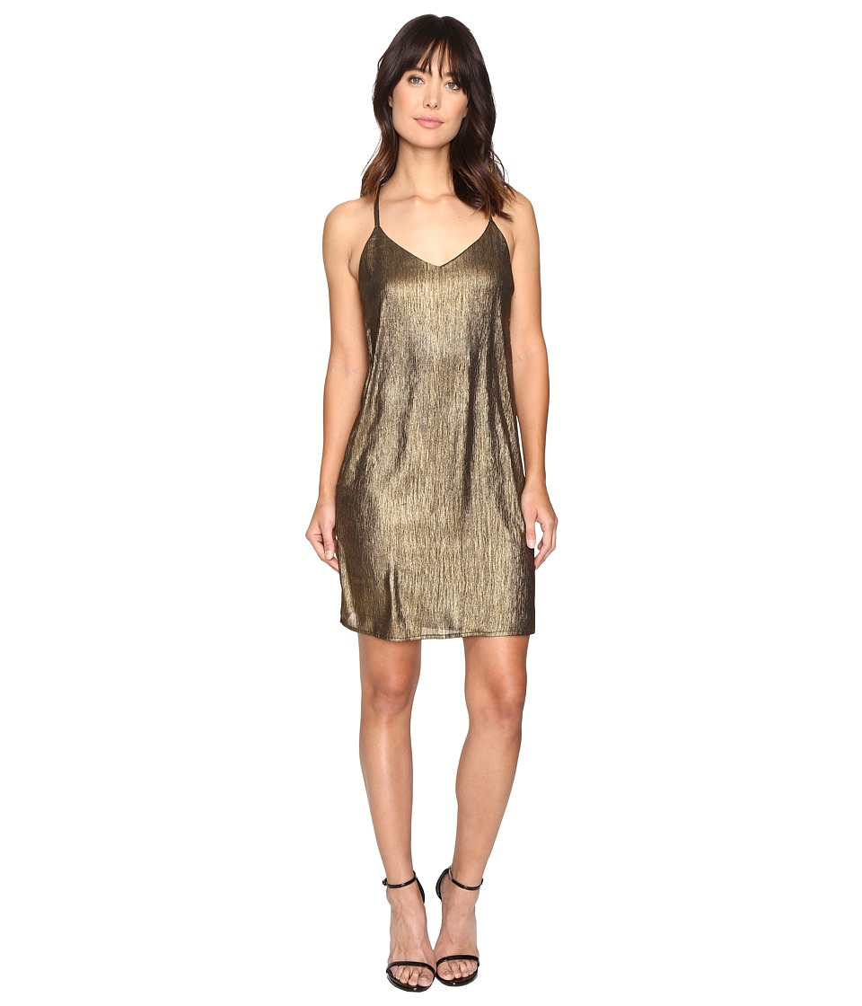 Brigitte Bailey - Shawn Spaghetti Strap Shimmer Dress (Gold) Women's Dress