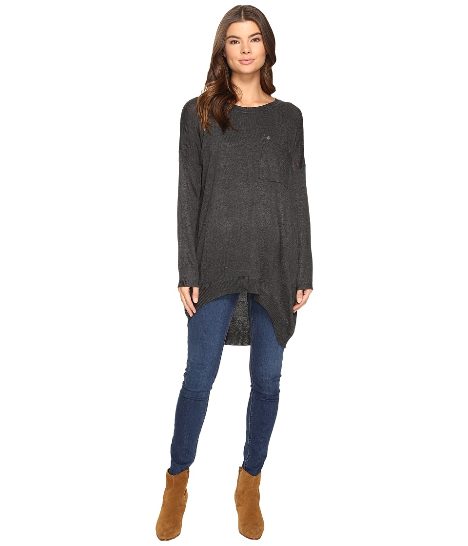 Brigitte Bailey - Bryleigh Long Sleeve Tunic with Pocket (Charcoal) Women's Blouse