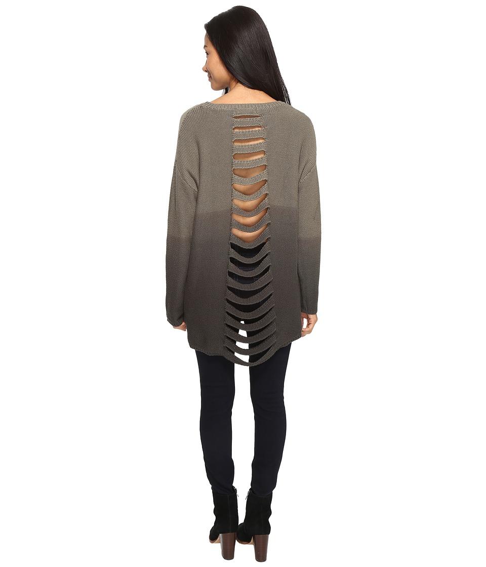 Brigitte Bailey - Elianna Long Sleeve Sweater (Olive) Women's Sweater