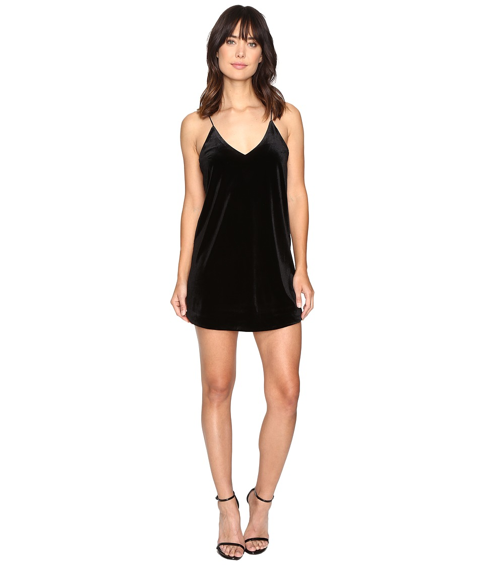 Brigitte Bailey - Kameron Spaghetti Strap Velvet Dress (Black) Women's Dress