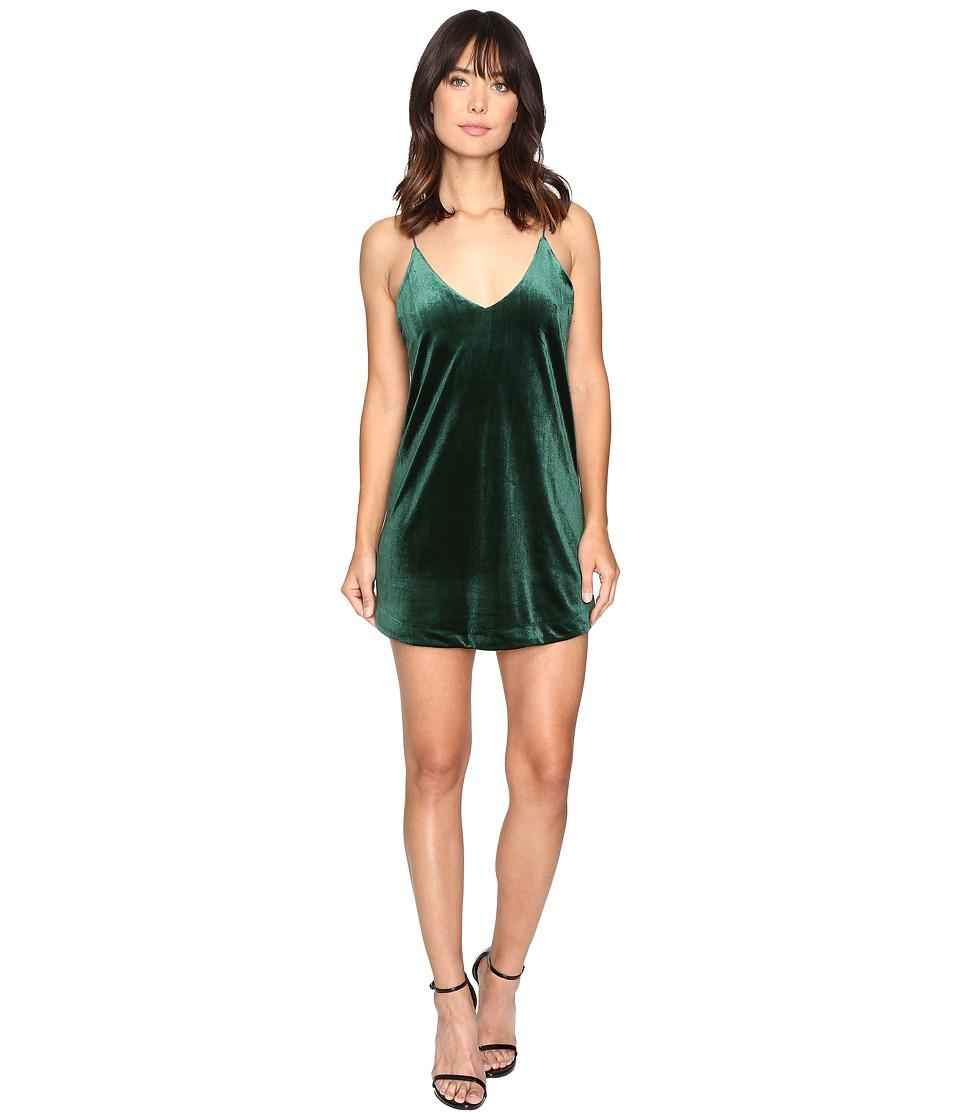 Brigitte Bailey - Kameron Spaghetti Strap Velvet Dress (Hunter Green) Women's Dress