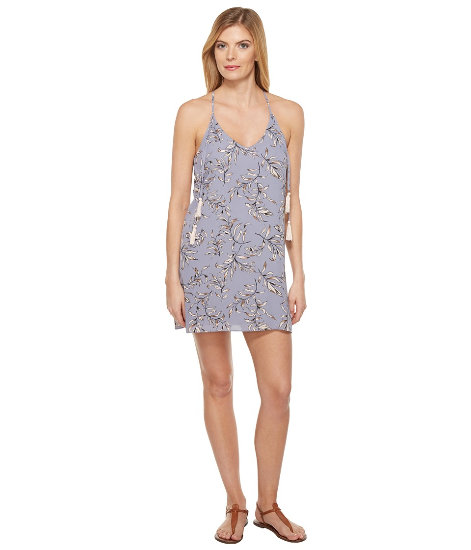 Brigitte Bailey - Kalyn Spaghetti Strap Printed Dress with Tassels (Dove Grey) Women's Dress