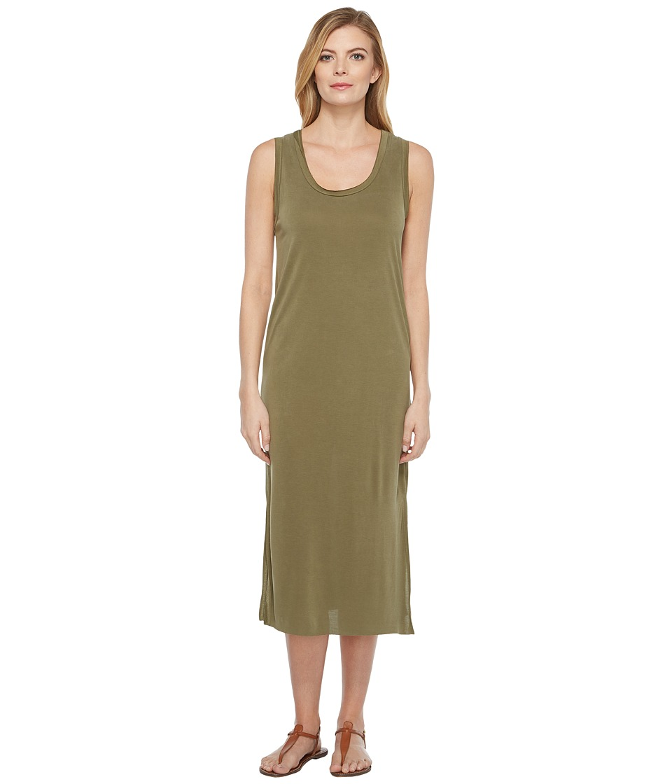 Culture Phit - London Sleeveless Midi Dress (Olive) Women's Dress