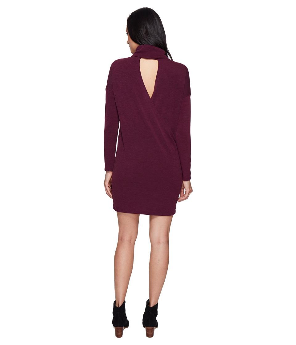 Culture Phit - Lorah Cowl Neck Open Back Shift Dress (Eggplant) Women's Dress