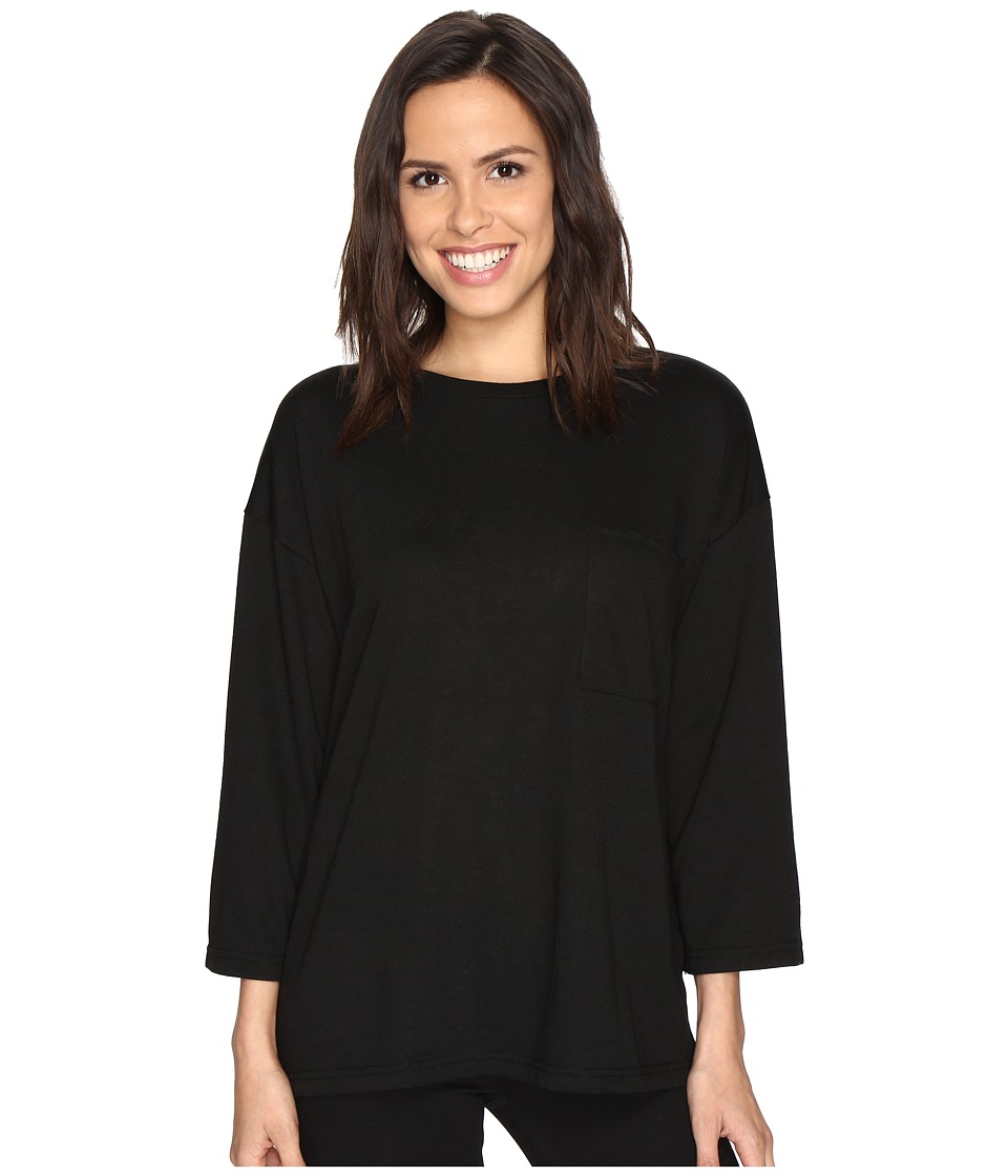 Culture Phit - Skye Oversized Pocketed Top (Black) Women's Clothing