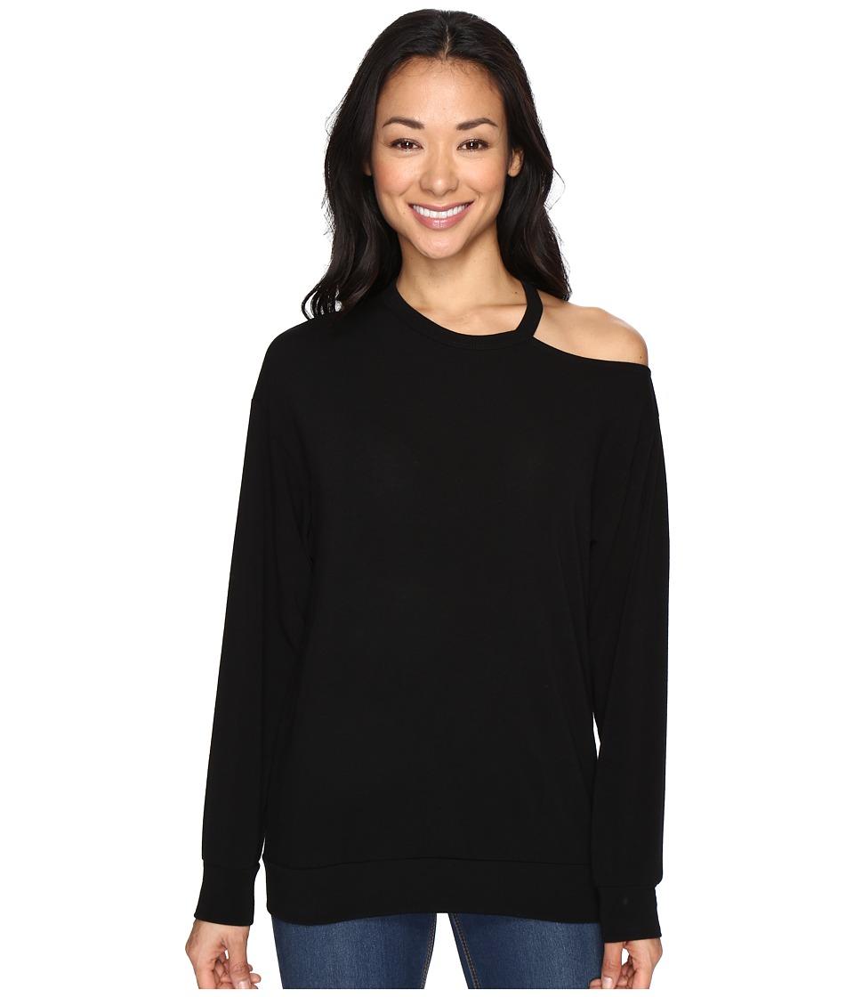 Culture Phit - Tatum Open Shoulder Long Sleeve Top (Black) Women's Clothing