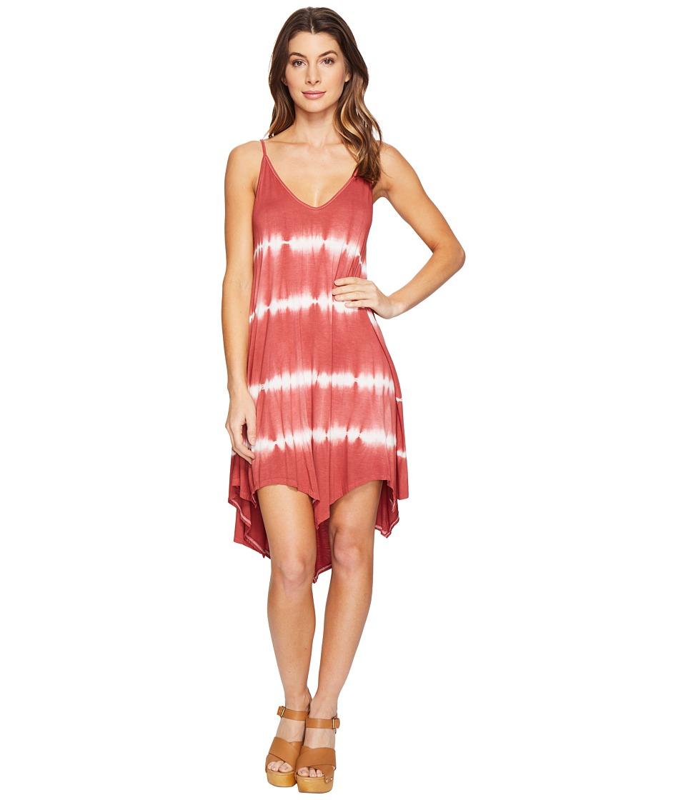 Culture Phit Kelsee Spaghetti Strap Tie-Dye Dress (Rust) Women