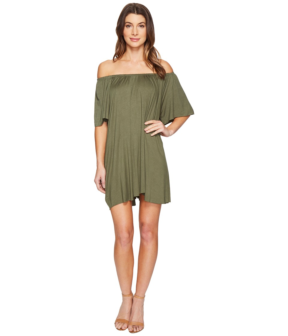 Culture Phit - Loryn Off the Shoulder Dress (Olive) Women's Dress