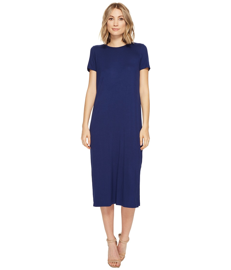 Culture Phit - Giona Short Sleeve Maxi Dress with Open Back (Navy) Women's Dress