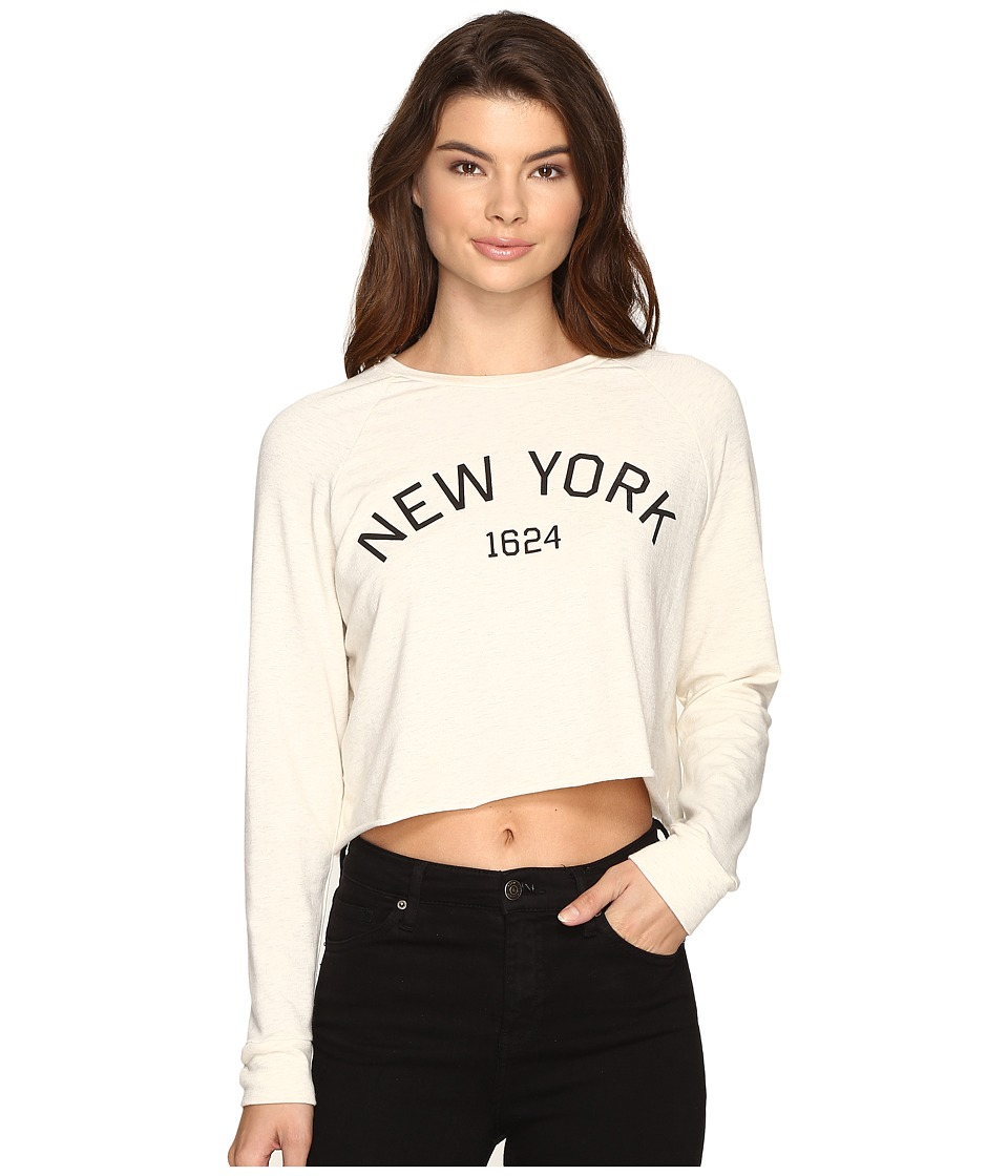 Culture Phit - New York Long Sleeve Top (Oatmeal) Women's Clothing