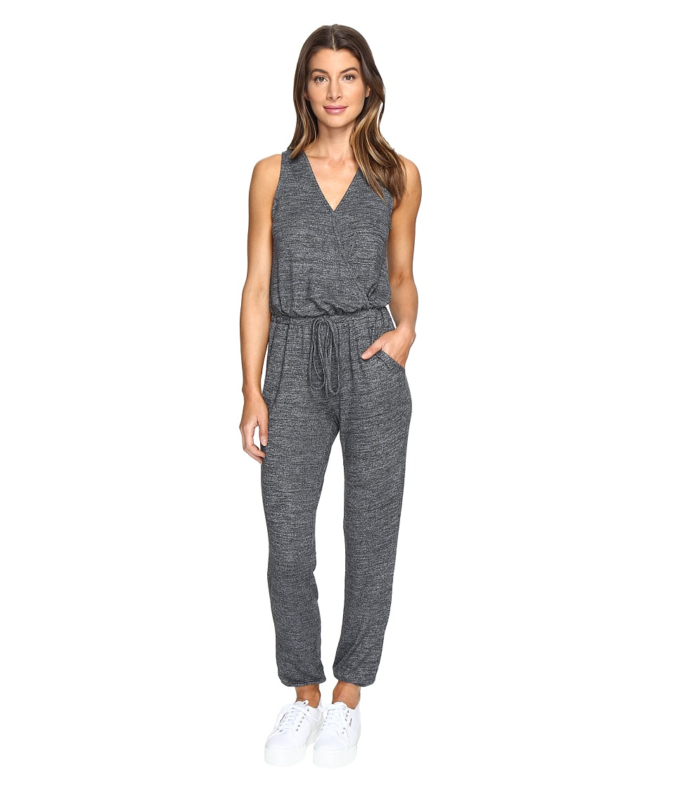 Culture Phit - Aspen Cross Front Sleeveless Jumper (Charcoal) Women's Jumpsuit & Rompers One Piece