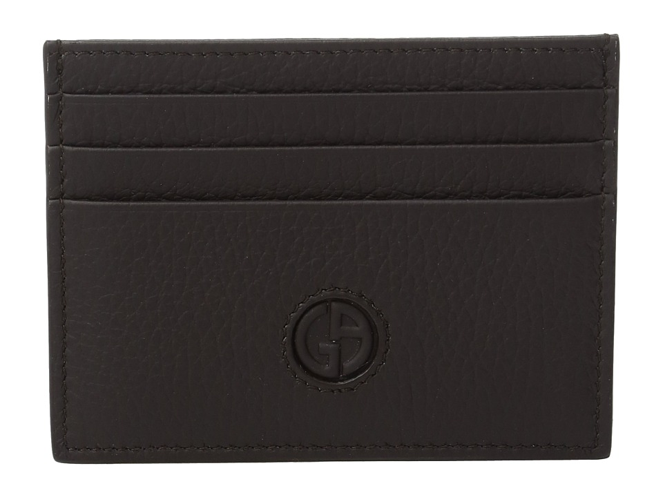 Giorgio Armani - Logo Card Holder (Dark Brown) Credit card Wallet