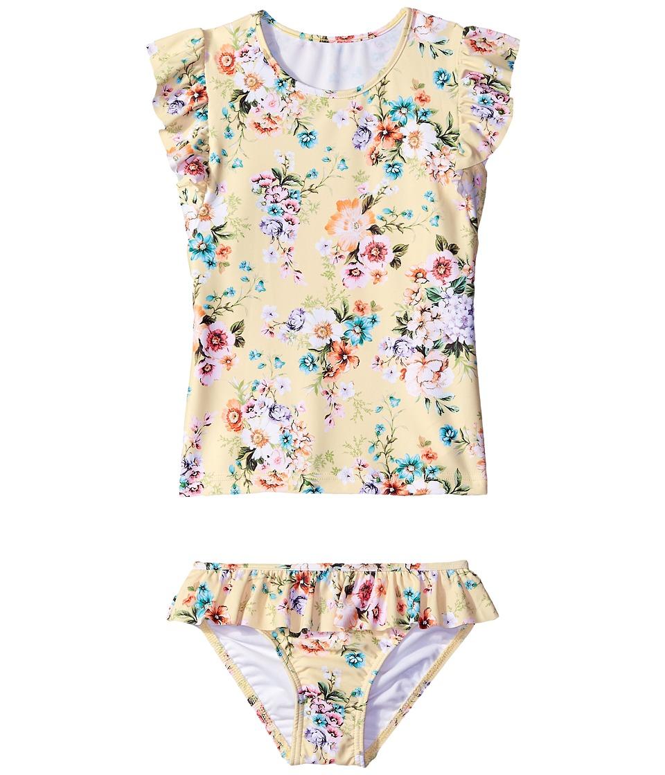 Seafolly Kids - Swan Lake Rashie Set (Infant/Toddler/Little Kids) (Lemon Yellow) Girl's Swimwear Sets