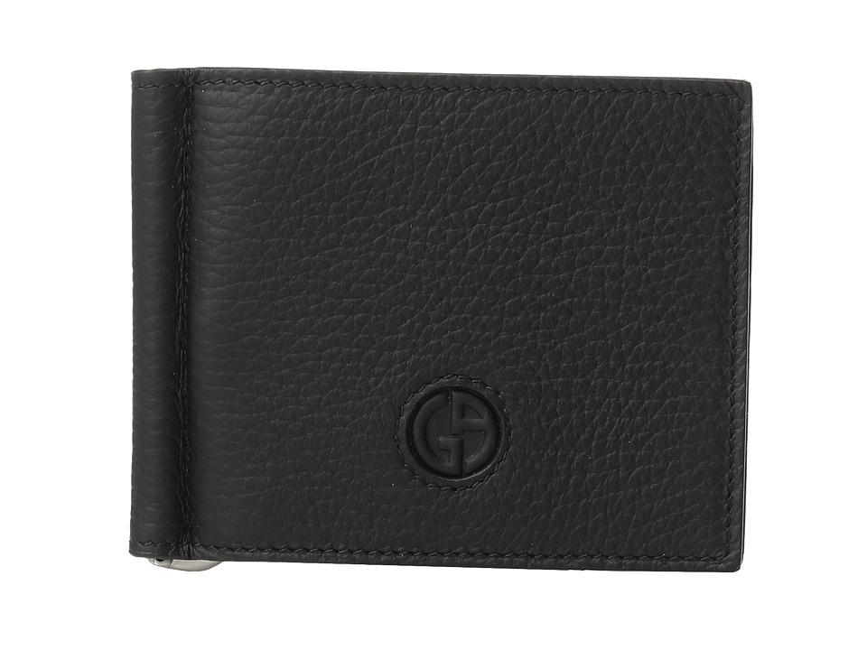 Giorgio Armani - Logo Wallet (Black) Wallet Handbags