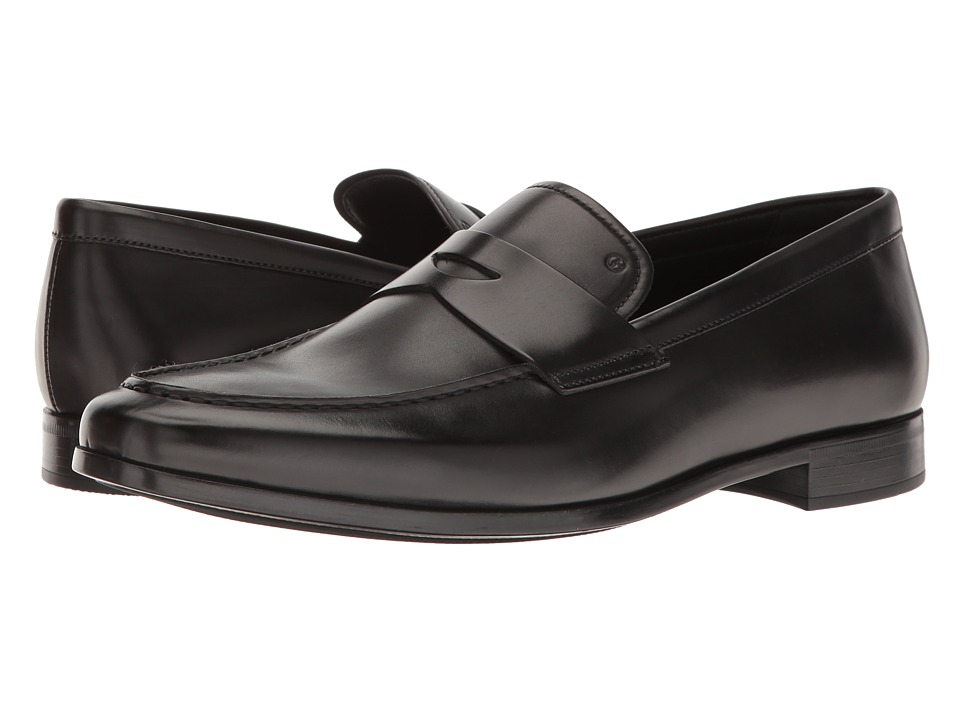 Giorgio Armani - Penny Loafer (Black) Men's Slip on Shoes
