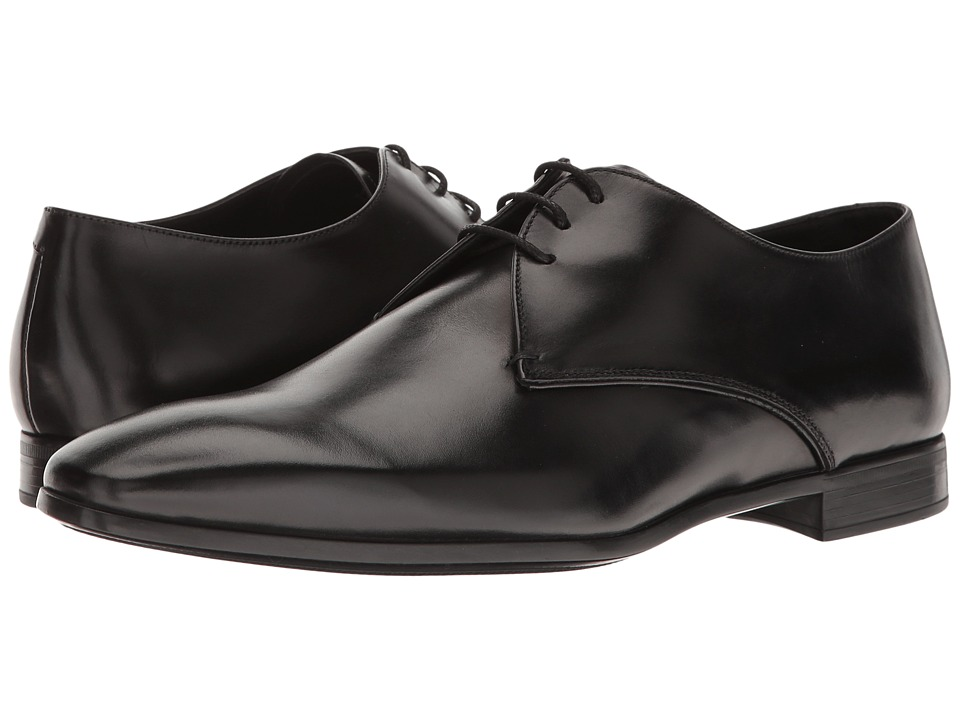 Giorgio Armani - Plain Toe Oxford (Black) Men's Lace up casual Shoes