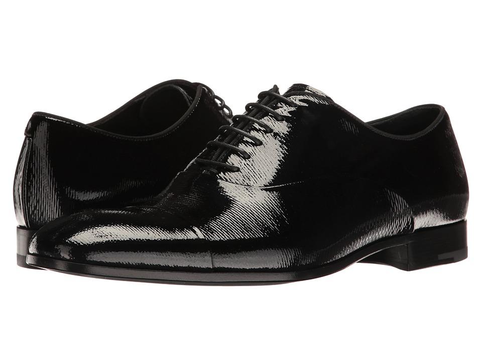 Giorgio Armani - Cap Toe Oxford (Black) Men's Lace up casual Shoes