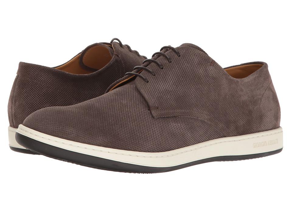 Giorgio Armani - Microholes Sneaker (Asfalto) Men's Shoes