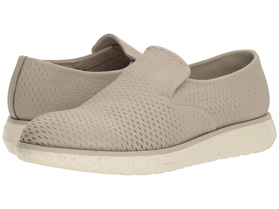 Giorgio Armani - Engraved Deerskin Sneaker (Fog) Men's Shoes