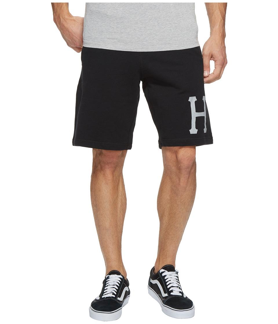 HUF - 3 M Classic H Fleece Shorts (Black) Men's Shorts