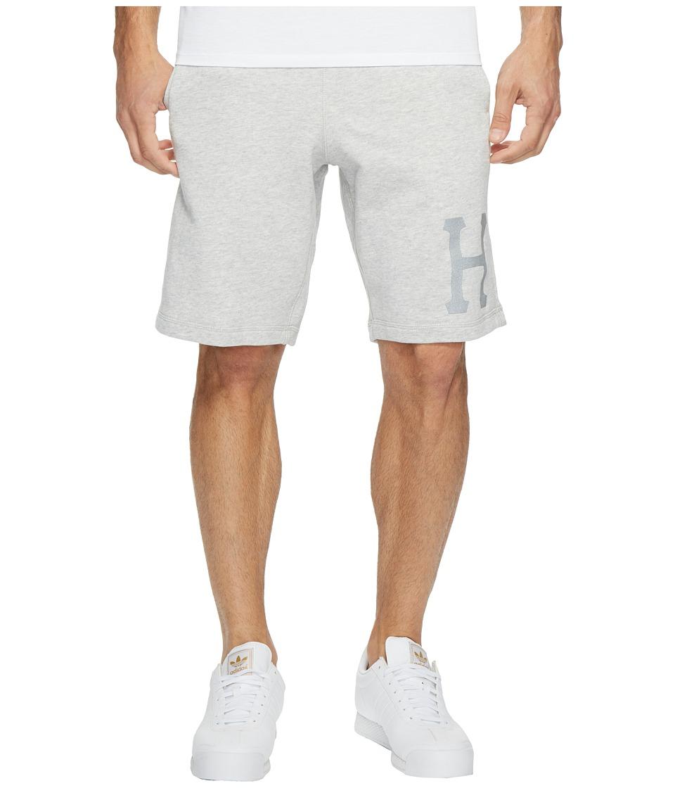 HUF - 3 M Classic H Fleece Shorts (Grey Heather) Men's Shorts