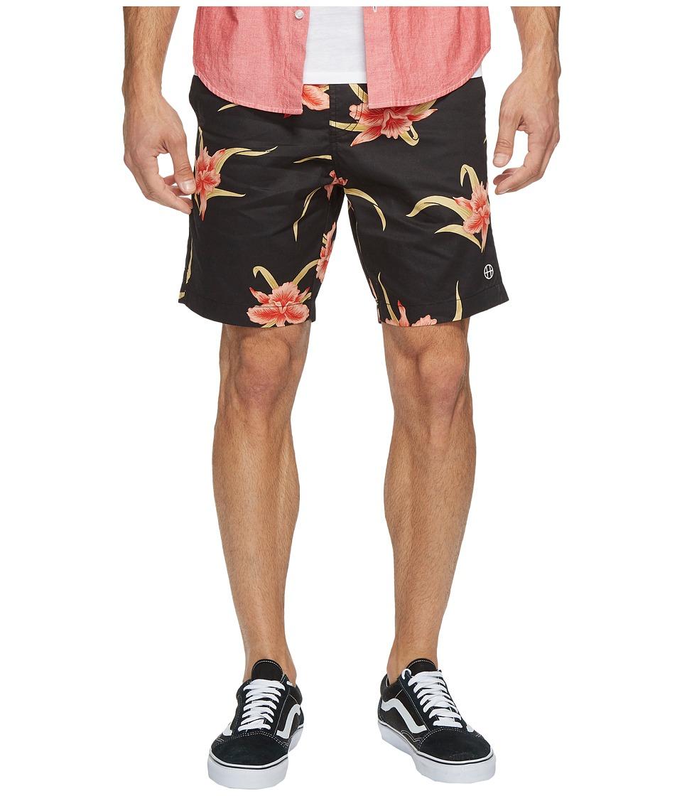 HUF - Rakuen Easy Shorts (Black) Men's Shorts